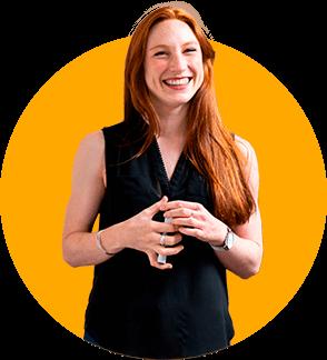 Woman Explaining Performance Marketing